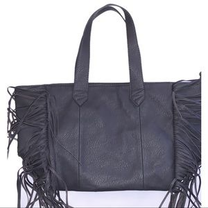 NWOT Atmosphere Boho Fringe Tote Bag Purse